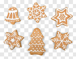 Сlipart holiday gingerbread sugar winter spice photo cut out BillionPhotos