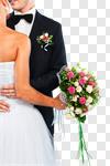 Сlipart Wedding Bride Groom Couple Wedding Ring photo cut out BillionPhotos
