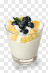 Сlipart yogurt muesli yoghurt fruit isolated photo cut out BillionPhotos