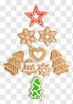 Сlipart gingerbread biscuit icing lights decoration photo cut out BillionPhotos