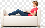 Сlipart Sofa Women Laptop Computer Relaxation photo cut out BillionPhotos