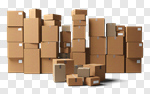 Сlipart Box Moving Office Stack Moving House Cardboard Box 3d cut out BillionPhotos