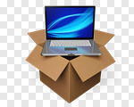 Сlipart Box Computer Laptop Shipping Moving House 3d cut out BillionPhotos