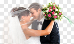 Сlipart Wedding Bride Groom Couple Wedding Reception photo cut out BillionPhotos