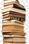 Сlipart Book Stack Textbook Heap Old photo cut out BillionPhotos
