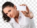 Сlipart Marketing Business Card Women Coupon Business photo cut out BillionPhotos