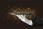 Сlipart Butler Tray Human Hand Glove White   BillionPhotos