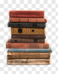 Сlipart books old stacked stack pile photo cut out BillionPhotos