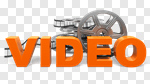 Сlipart Video Symbol Film Film Reel Three-dimensional Shape 3d cut out BillionPhotos