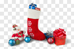 Сlipart Christmas Stocking Christmas Christmas Decoration Red Isolated photo cut out BillionPhotos