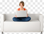 Сlipart Sofa Laptop Women Computer Residential Structure photo cut out BillionPhotos