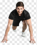 Сlipart Running Sport Exercising Athlete Men photo cut out BillionPhotos