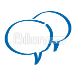 Сlipart Chat Clouds Chat Cloud Chat Communication Connection vector icon cut out BillionPhotos