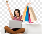 Сlipart shopping customer buying laptop card photo cut out BillionPhotos