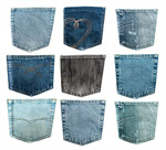 Сlipart Pocket Jeans Denim Blue Textile photo  BillionPhotos