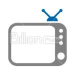 Сlipart Television TV Aerial Broadcast Cable vector icon cut out BillionPhotos