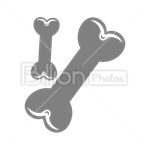 Сlipart Dog Bone Toy Food Snack bone vector icon cut out BillionPhotos
