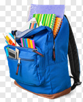 Сlipart school backpack school backpack back full photo cut out BillionPhotos