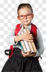 Сlipart book school kid backpack blackboard photo cut out BillionPhotos