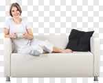 Сlipart Window Sofa Women House Comfortable photo cut out BillionPhotos