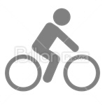 Сlipart Bicycle Bike Wheel Tire Sport vector icon cut out BillionPhotos