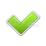 Сlipart Check Mark checkmark tick ticking tick off vector icon cut out BillionPhotos