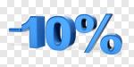 Сlipart Sale 10% Number 10 Percentage Sign % 3d cut out BillionPhotos