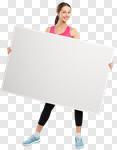 Сlipart fit fitness women blank billboard photo cut out BillionPhotos