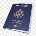 Сlipart Passport USA Emigration and Immigration American Culture Identity 3d cut out BillionPhotos
