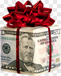 Сlipart Gift Currency Savings Wealth Christmas photo cut out BillionPhotos