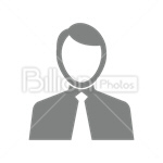 Сlipart Avatar Icon Men Businessman silhouette vector icon cut out BillionPhotos