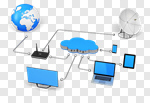 Сlipart Cloud Computer Equipment Using Computer Network Server Computer 3d cut out BillionPhotos