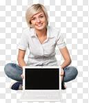 Сlipart Women Laptop Computer Computer Monitor Holding photo cut out BillionPhotos