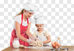 Сlipart mom kid cooking kitchen toddler photo cut out BillionPhotos