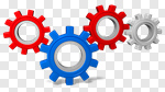 Сlipart Gear Symbol Three-dimensional Shape Industry Business 3d cut out BillionPhotos