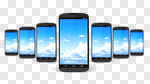 Сlipart Mobile Phone Smart Phone Telephone Technology Cloud 3d cut out BillionPhotos