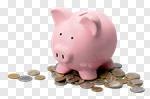 Сlipart piggy bank money coins currency photo cut out BillionPhotos