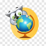 Сlipart OwlStudying Education School Learning Globe vector cut out BillionPhotos