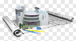 Сlipart Construction Blueprint Built Structure Architecture Building Activity 3d cut out BillionPhotos