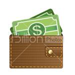 Сlipart Wallet Change Purse Pouch Cash Register Money vector icon cut out BillionPhotos