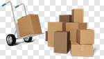 Сlipart Box Delivering Package Cardboard Box Hand Truck 3d cut out BillionPhotos