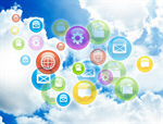 Сlipart mobile cloud internet businessman background vector  BillionPhotos