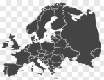Сlipart Europe Map Outline Gray vector cut out BillionPhotos