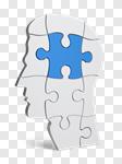 Сlipart Brain Puzzle Contemplation Human Head Thinking 3d cut out BillionPhotos