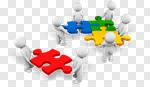 Сlipart Puzzle People Community Service Assistance 3d cut out BillionPhotos