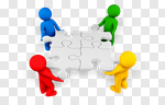 Сlipart Puzzle People Community Service Assistance 3d cut out BillionPhotos