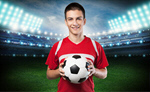 Сlipart soccer player ball portrait face   BillionPhotos