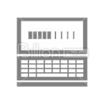 Сlipart Laptop Notebook Computer Screen vector icon cut out BillionPhotos
