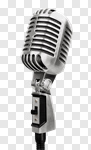 Сlipart microphone mic silver white old photo cut out BillionPhotos
