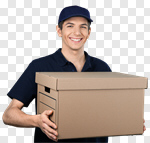 Сlipart Delivering Shipping Package Postal Worker Box photo cut out BillionPhotos